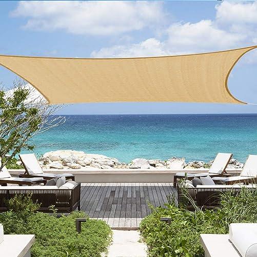 Shade Beyond Sun Canopy Shade Sail 12'x16' Rectangle UV Block