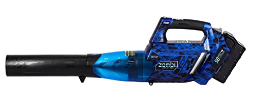 Zombi ZLB5817 58-Volt Variable Speed 105 MPH Max 4Ah Lithium Cordless Electric Blower, Battery Charger Included