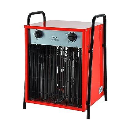 Happyjoy Ventilador del calentador Ventilador del calentador eléctrico Generador de aire caliente Ventilador industrial Calentador (