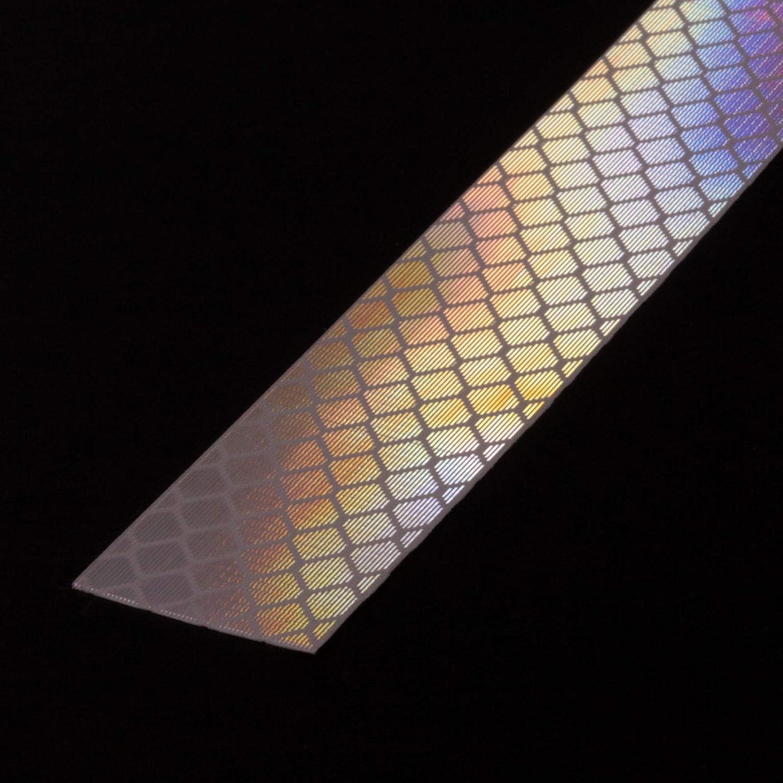 10mm x 5 Meter DonDo 3M Diamond Grade 4092 Reflektorband Scotchlite hochreflektierend mit Mikroprismen RA3 C klebend Reflektierendes Klebeband Reflexfolie Konturmarkierung rot