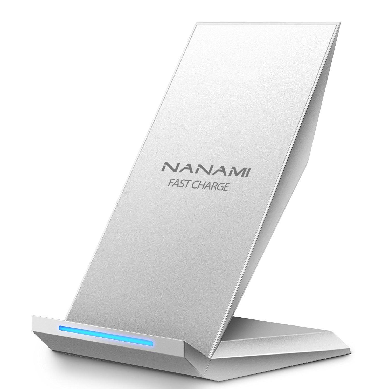 Cargador Inalámbrico Rápido, NANAMI 2 Bobinas Qi Wireless Quick Charger...