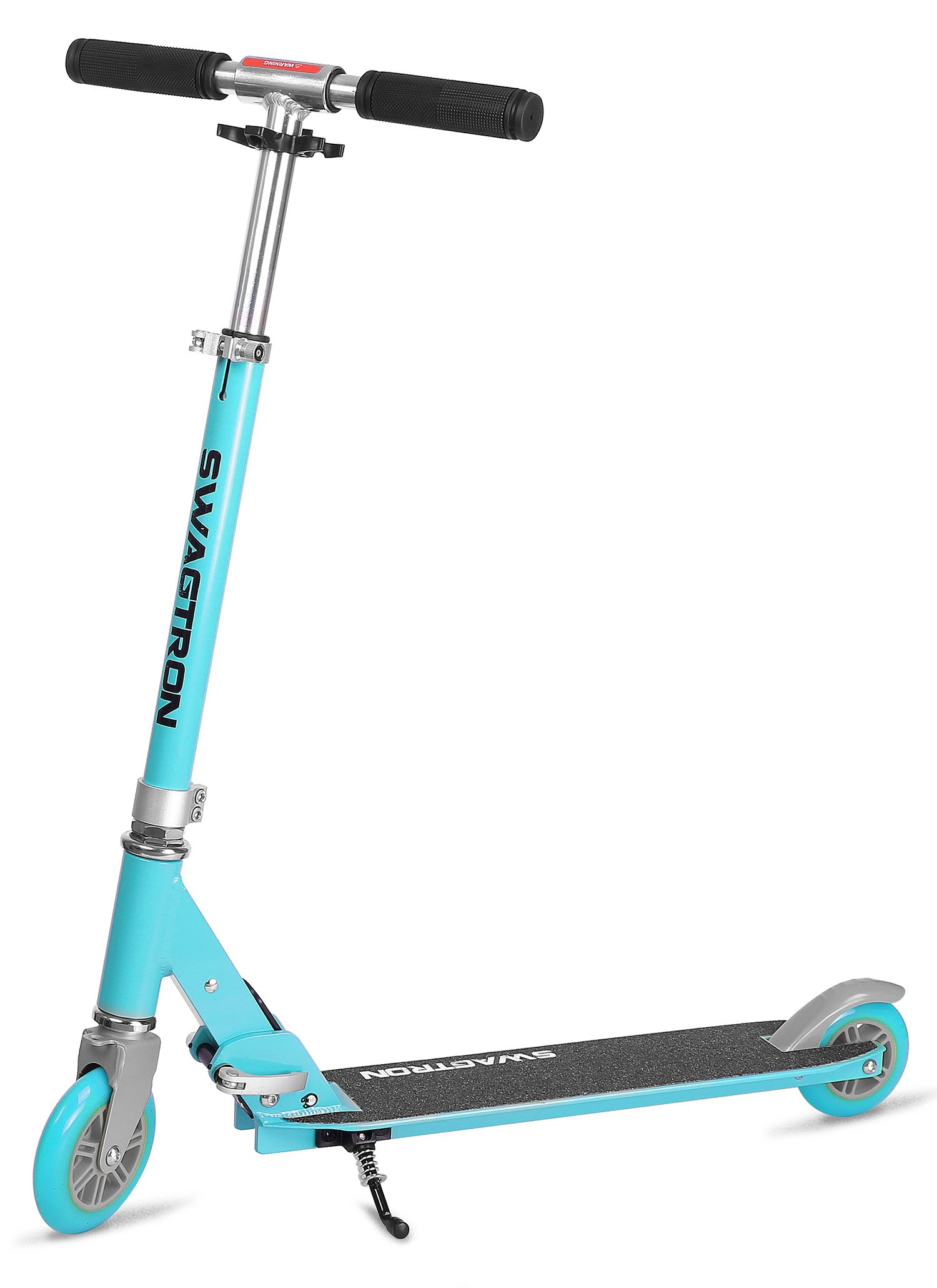 K1 Girl or Boy Kick Scooter 2 Wheel Adjustable 40'' Kids up to 72'' Teens, 220Lb Weight Limit, ABEC-9 Bearings, Lightweight 6.42Lbs, Next Gen Fold-n-Lock System + Kickstand (Blue/Silver) by Swagtron