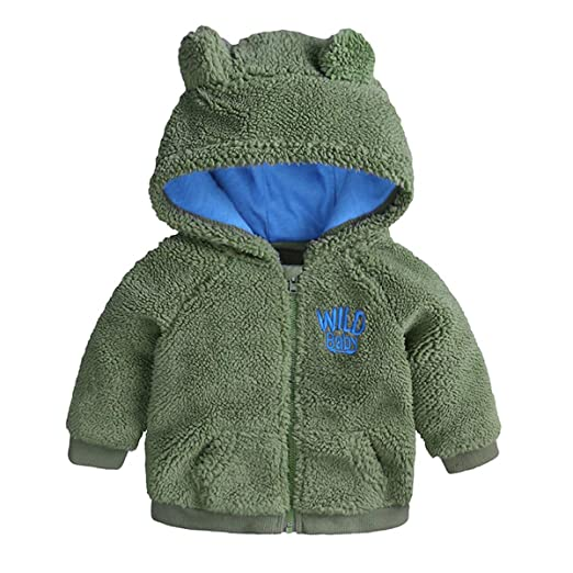 Amazon.com: puseky Newborn Baby Boys Girls Cartoon Ear Hooded Zipper ...