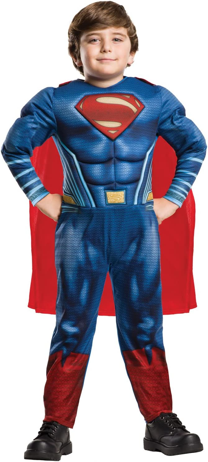 DC Comics - Disfraz de Superman Deluxe para niño, infantil 3-4 ...