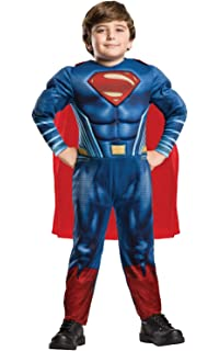Costume Superman Abito Carnevale Con Muscoli Medium 5 7 Anni Amazon
