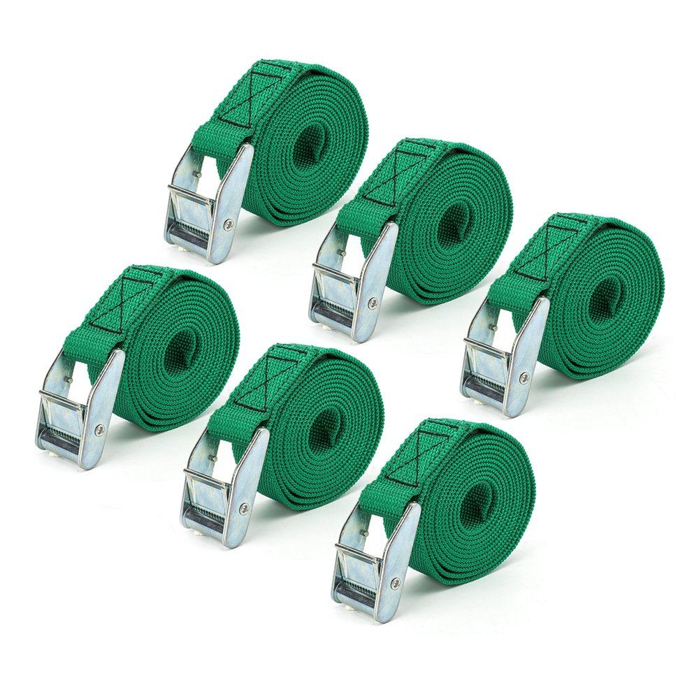 URBEST Lashing Straps up to 600lbs, 6 Pcs in Carry Bag, Green Color