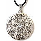Gepardini Blume des Lebens Halskette, SWAROVSKI® Edition Kristalle (silber, gold, roségold) massive Qualität mit Zertifikat
