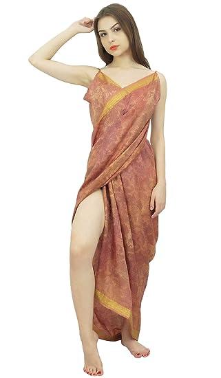 118adc696bb Indianbeautifulart Vintage Damask Printed Sarong Dress Cross Over ...