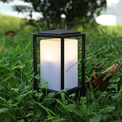 KMYX Small Lawn Light Outdoor Garden Wall Light Lamp Patio Path Lighting  Post Lamp Lights IP44 a59be1d46fd4