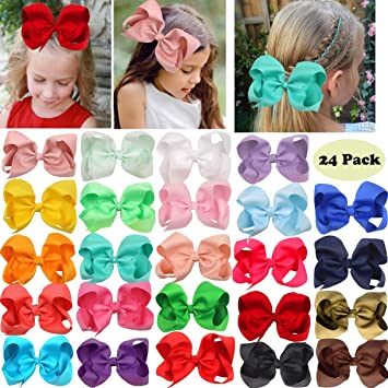 20 Pcs Baby Girls Hair Bows Clips Grosgrain Ribbon Bows Hair Alligator Clips Hair Barrettes Hairpins Hair Accessories for Girls Toddler Infants Kids Teens Children