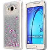 Galaxy On5 Case, ESEEKGO Floating Liquid Case for On5 Soft Cover TPU Bumper Bling Case (Silver)