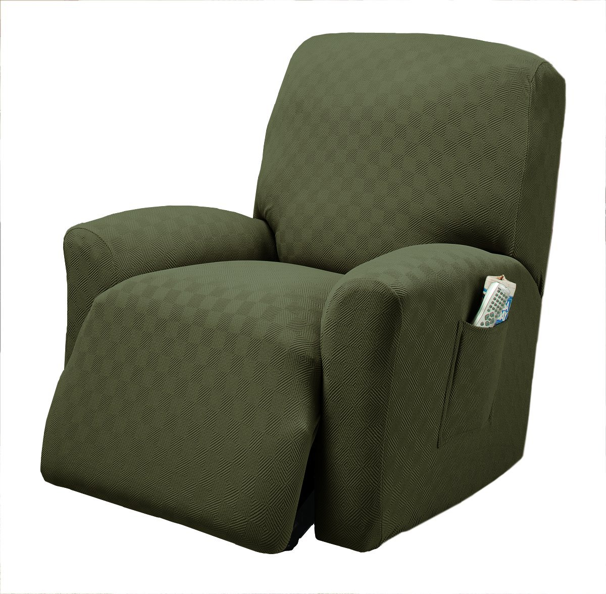 Amazon.com: Stretch Sensations Newport Recliner Stretch Slipcover, Wheat:  Home U0026 Kitchen