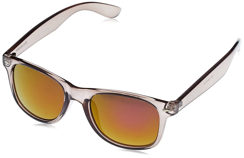 Ocean Sunglasses Beach wayfarer gafas de sol polarizadas Montura : Negro Brillante