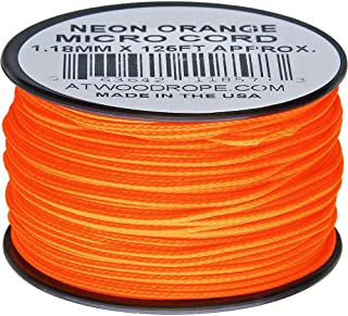 product image for Atwood Rope MFG Micro Cord 125ft Neon Orange