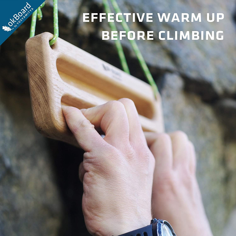 Portable Hangboard Wooden Hangboard for Climbers Training Bouldering Hang Board Yosyamitya Hangboard for Climbing Rock Climbing Finger Training Board OkBoard Lite