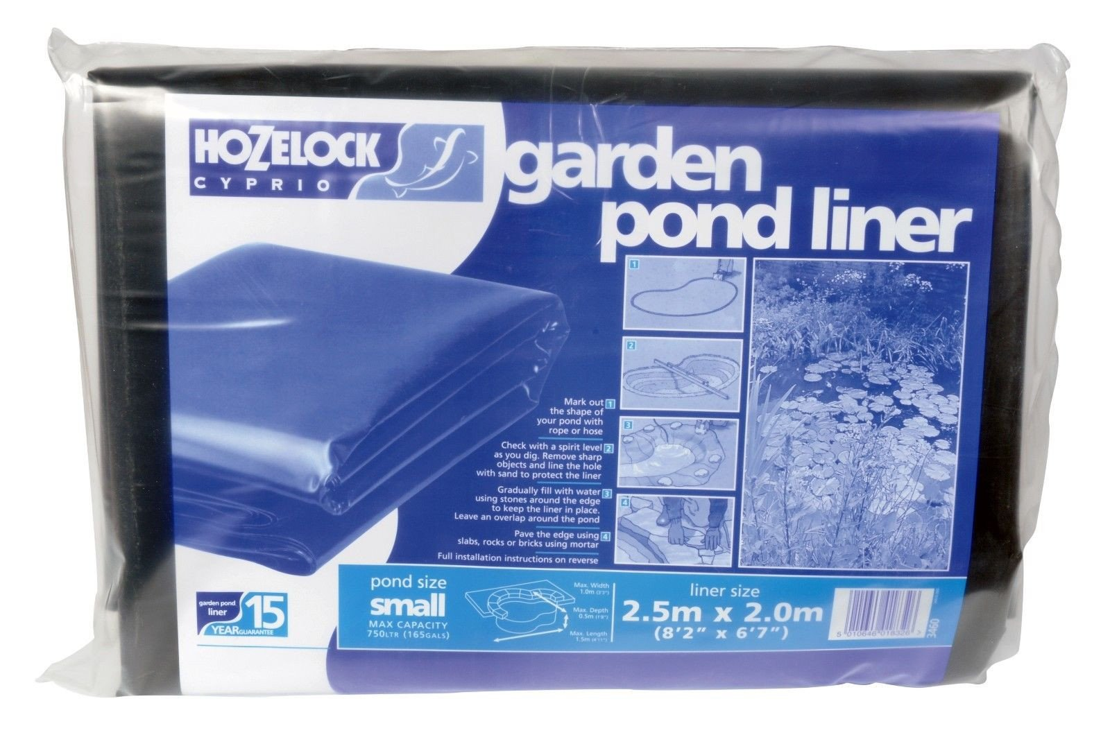 PVC Pond Liner 13 Foot 2 Inches X 9 Foot 10 Inches by Hozelock