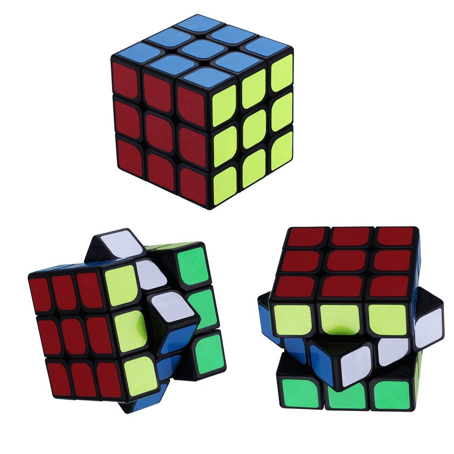 Squaad Speed Cube Set 2X2X2 3X3X3 4X4X4 5X5x5 Speed Cube Bundle of 4 pack 3-d puzzle cube Great Brain Teasing Toys For Adult And Kids Kirpa creation