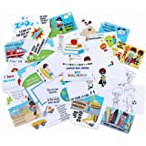 Sprinkled Joy 50 Designer Lunchbox Notes Boy Theme