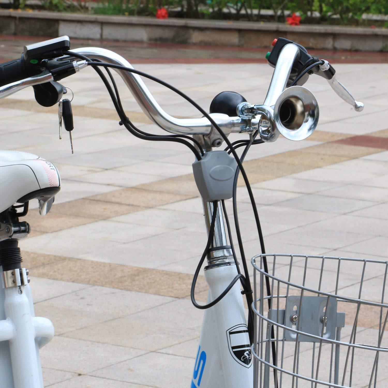 bicicletta corno nero Lampadina trombetta clacson forte JRing tromba corno cromato