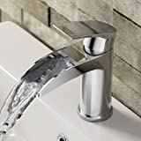 iBathUK Luxury Waterfall Basin Sink Mixer Tap Chrome Bathroom Lever Faucet TB3151