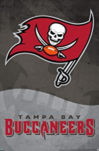 Trends International NFL Tampa Bay Buccaneers - Logo 20 Wall Poster, 22.375