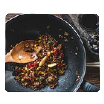 alfombrilla de ratón arroz frito vegetariano indio con verduras y avellanas: Amazon.es: Electrónica
