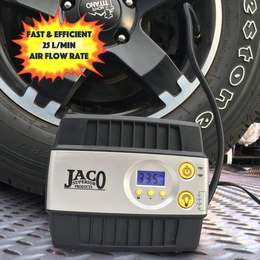 JACO SmartPro Digital Tire Inflator Pump - Premium 12V Portable Air Compressor - 100 PSI by JACO Superior Products (Image #5)
