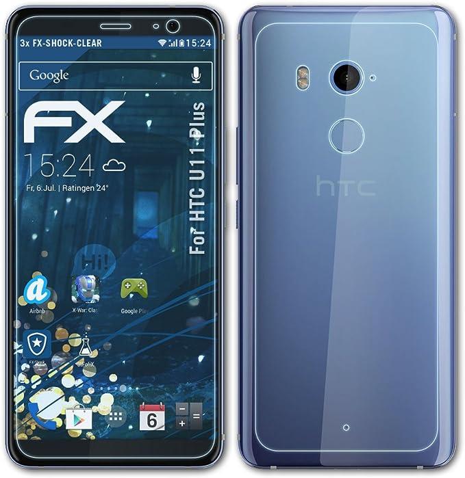 atFoliX Antichoque Película Protectora para HTC U11 Plus Protector ...