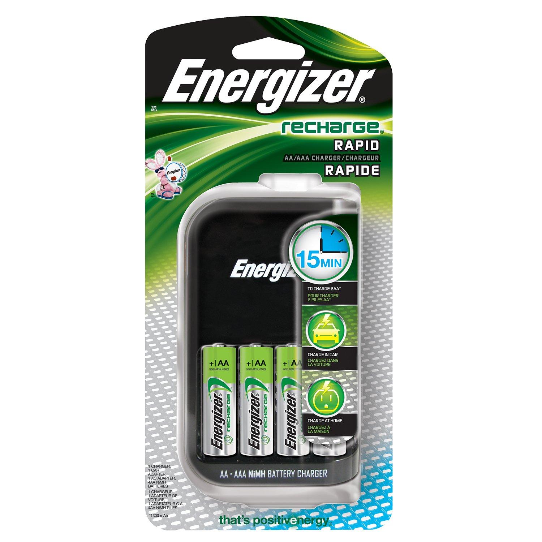 Energizer CH15MN + 4 NiMH AA - Cargador (100-240V, 50/60 Hz ...