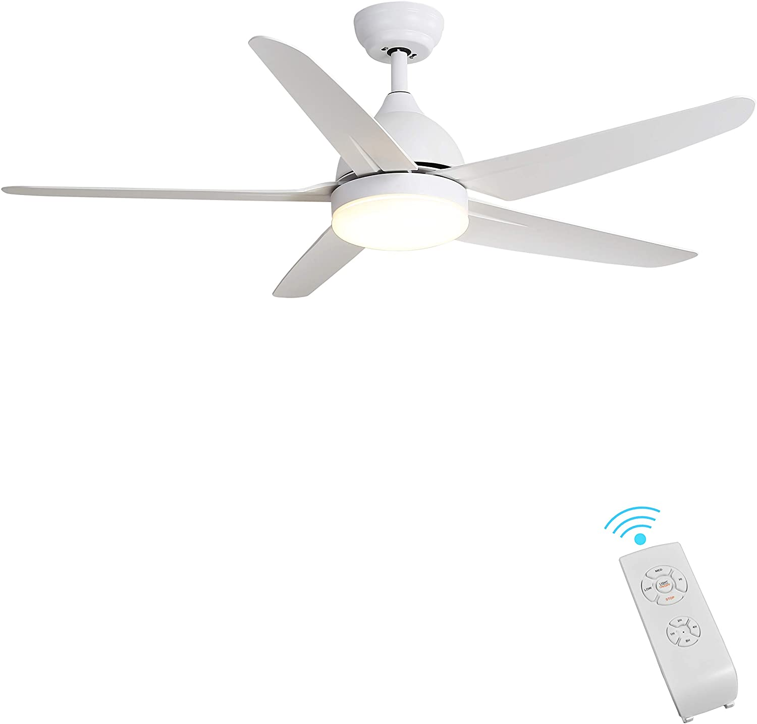 Amazon Com Indoor Ceiling Fan Light Fixtures Finxin White Remote Led 52 Ceiling Fans For Bedroom Living Room Dining Room Including Motor 5 Blades Remote Switch 5 Blades Kitchen Dining,Barbra Streisand Home
