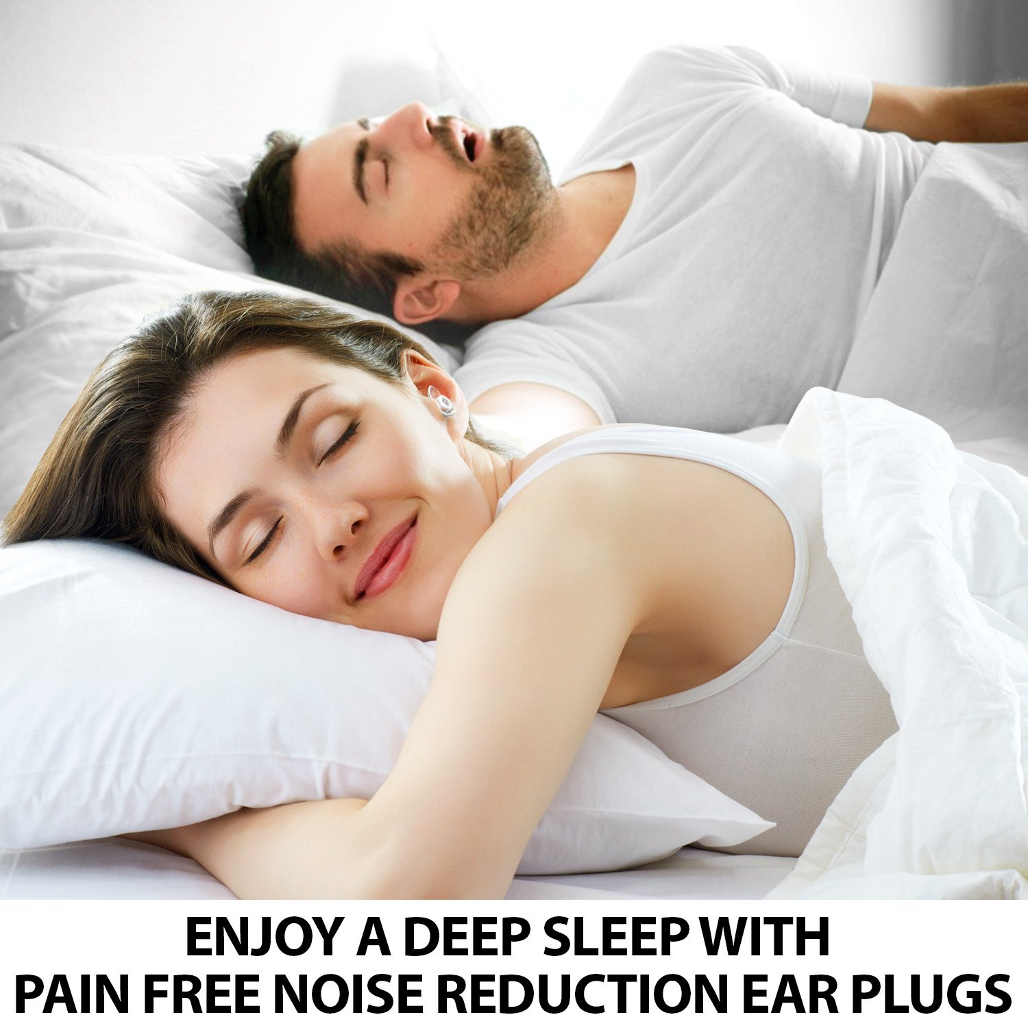 Sound Reducing Professional Ear Plugs - Most Effective Noise Reduction Ear Plugs for Concerts, Work, Sleep and Motorcycle Ear Protection - Soft and Comfortable Reusable Ear Plugs - Earplugs Sleep by Inbound Vibes (Image #5)
