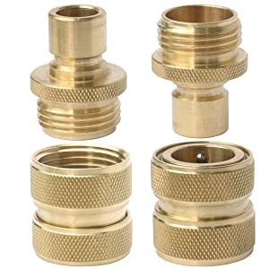 """3/4"""" Brass Hose Quick Connector Value Pack"""
