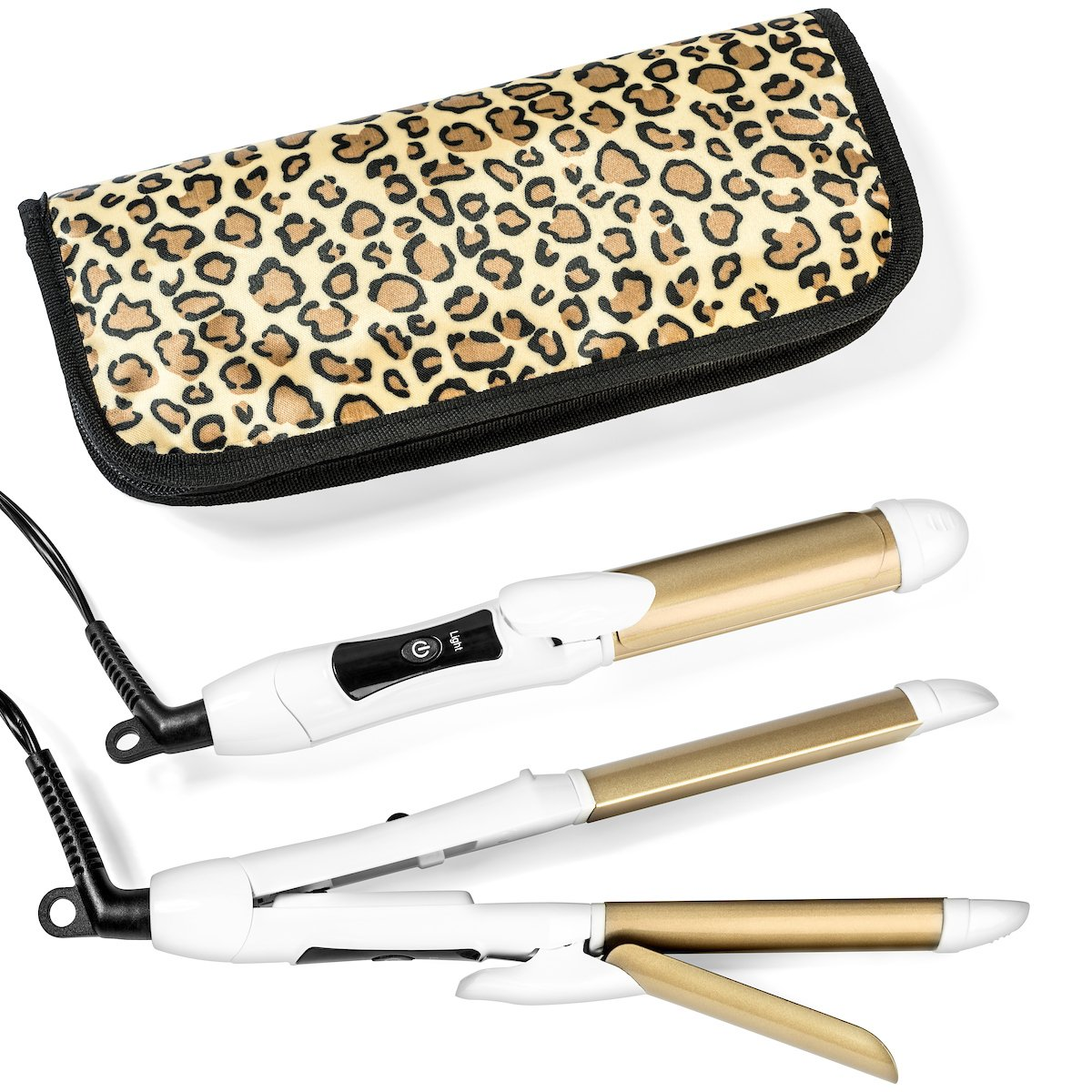 Travel Flat Iron 2-in-1 Mini Hair Straightener Curling Iron Dual Voltage 374 Degree Temperature Nano Titanium - Insulated Carry Bag Include by 6th Sense Styling Technology (Image #1)