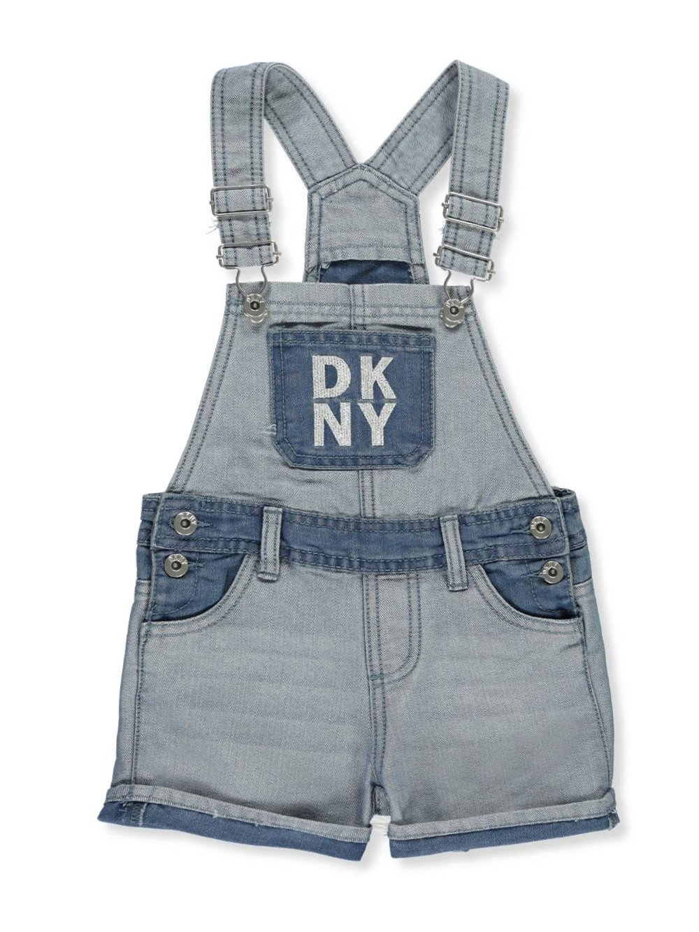 DKNY Girls' Denim Shortalls - Light wash, 4