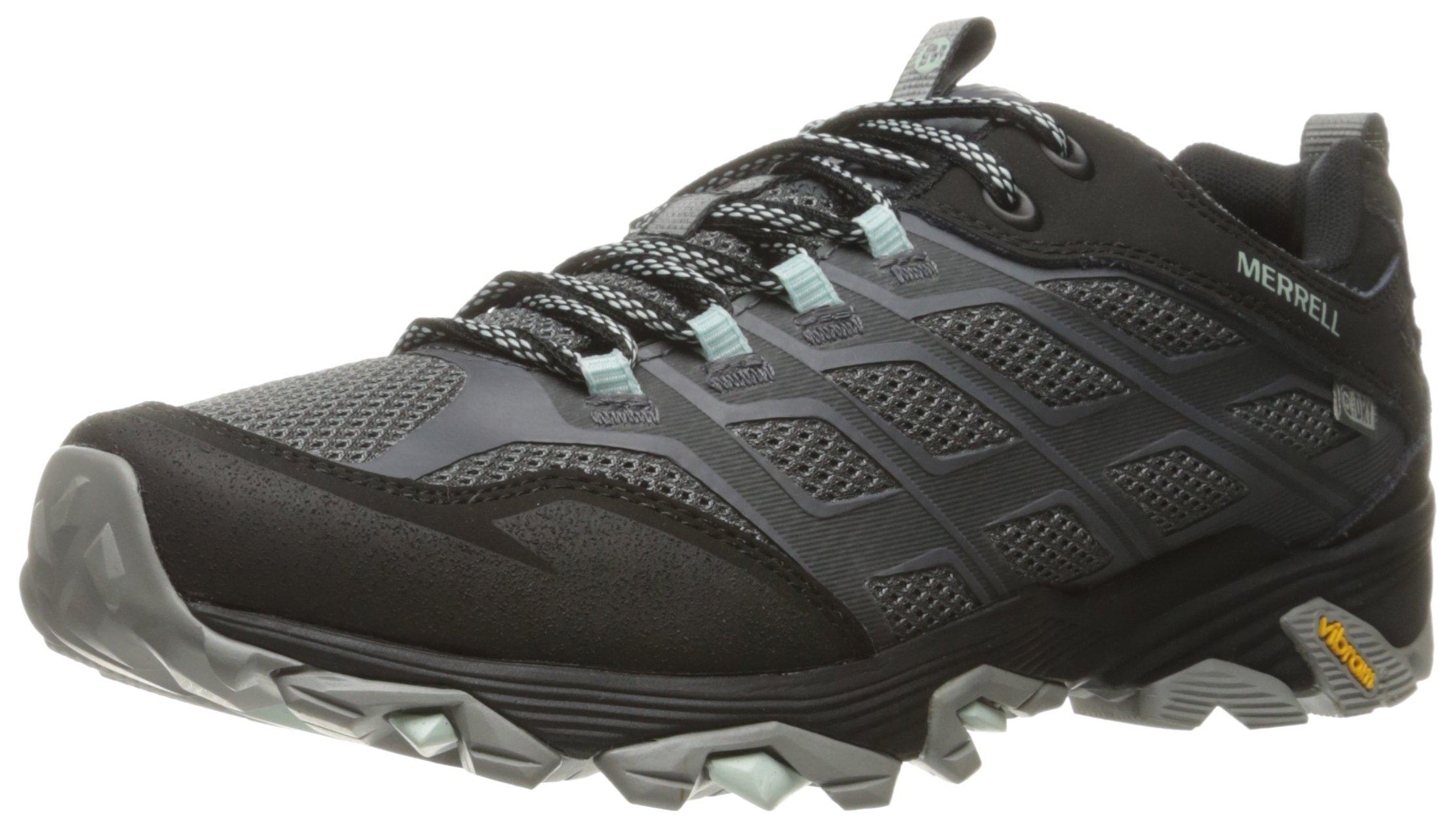 Merrell Women's Moab FST Waterproof Hiking Shoe, Granite, 9 M US
