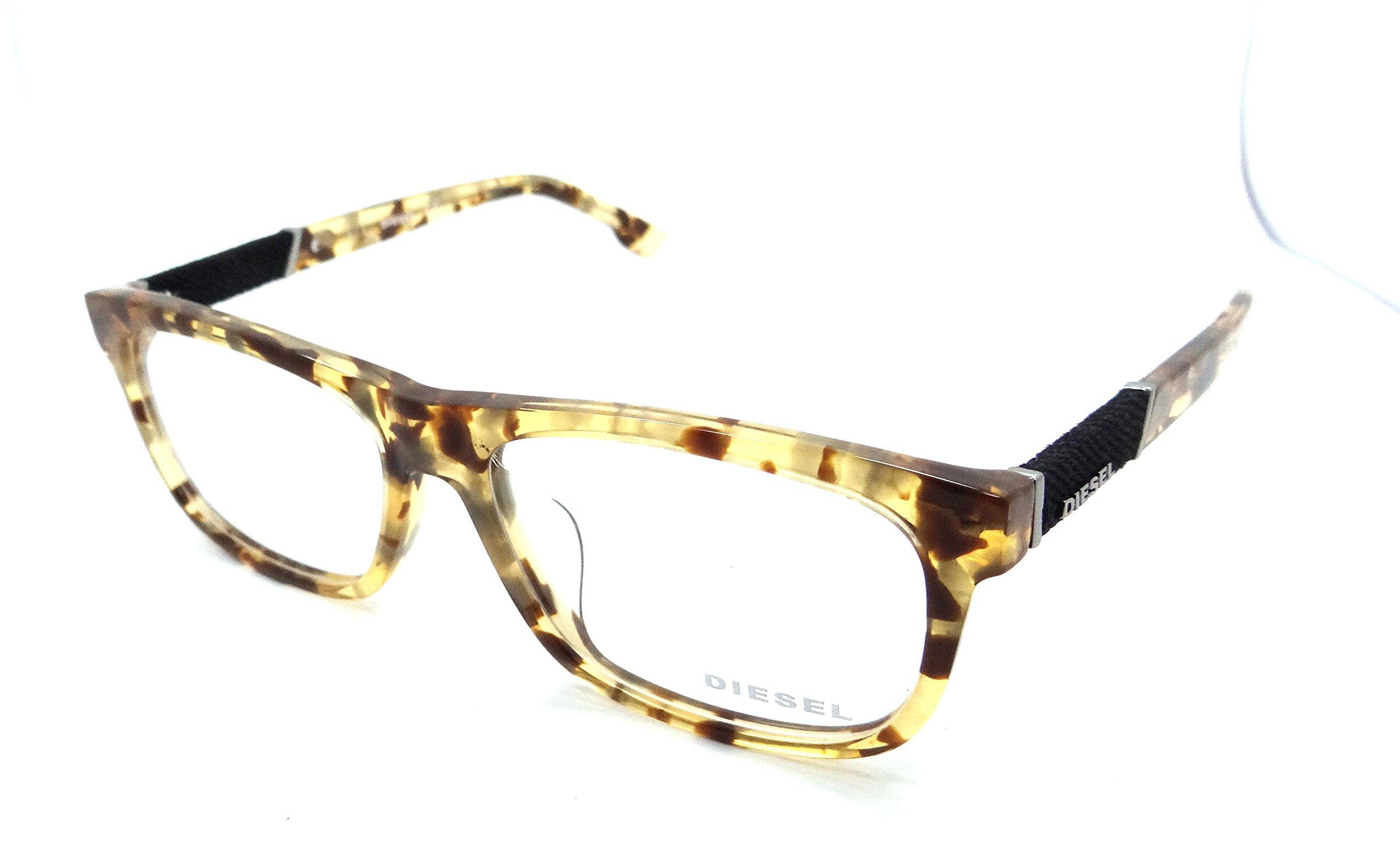 Diesel Rx Eyeglasses Frames DL5107-F 053 57-16-150 Blonde Havana Asian Fit
