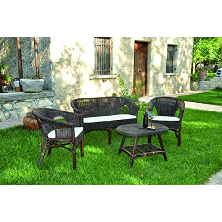 Set Giardino In Rattan.Lifeingarden Set Giardino In Rattan Kelek Amazon Co Uk Kitchen