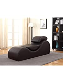 container furniture direct devon collection modern faux leather upholstered stretch and relaxation living room chaise lounge