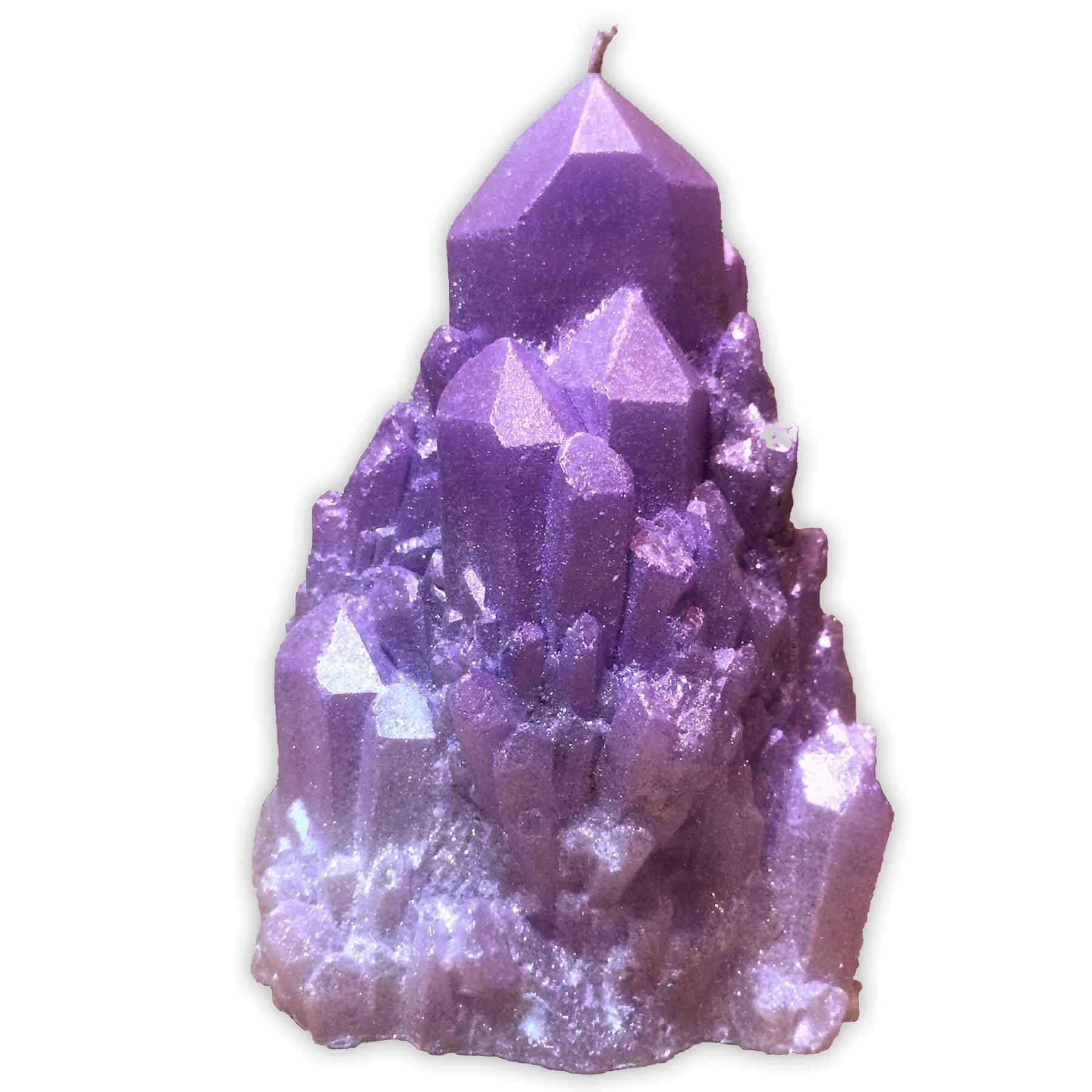 ABUNDANCE QUARTZ CRYSTAL Candle in Amethyst (purple) by Zen Den Candles