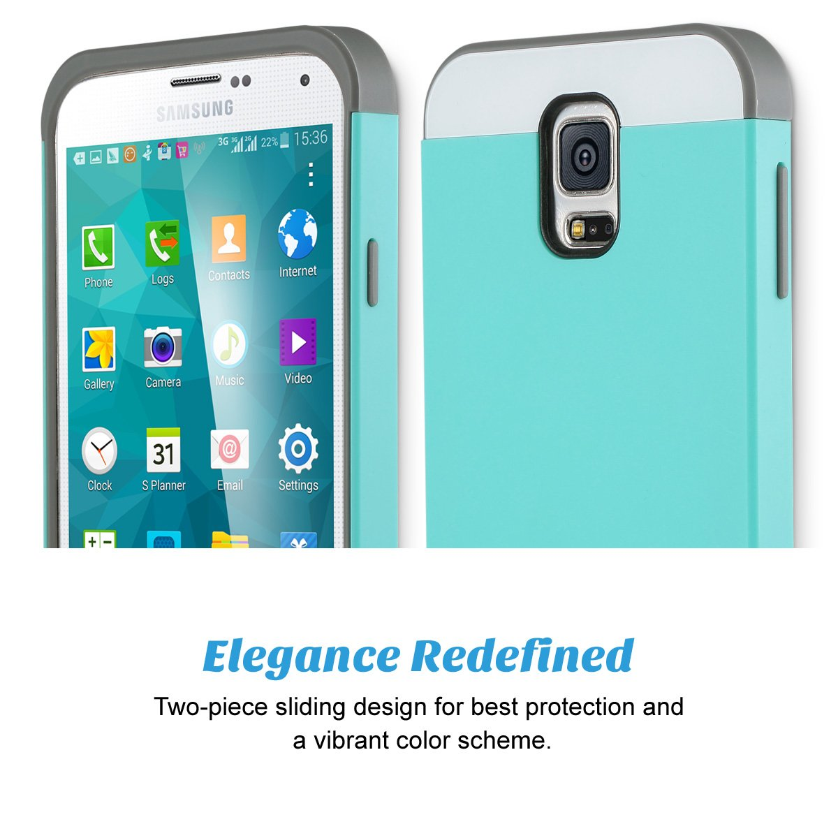 Amazon.com: ULAK Funda para Galaxy S5. Funda para S5. Funda ...