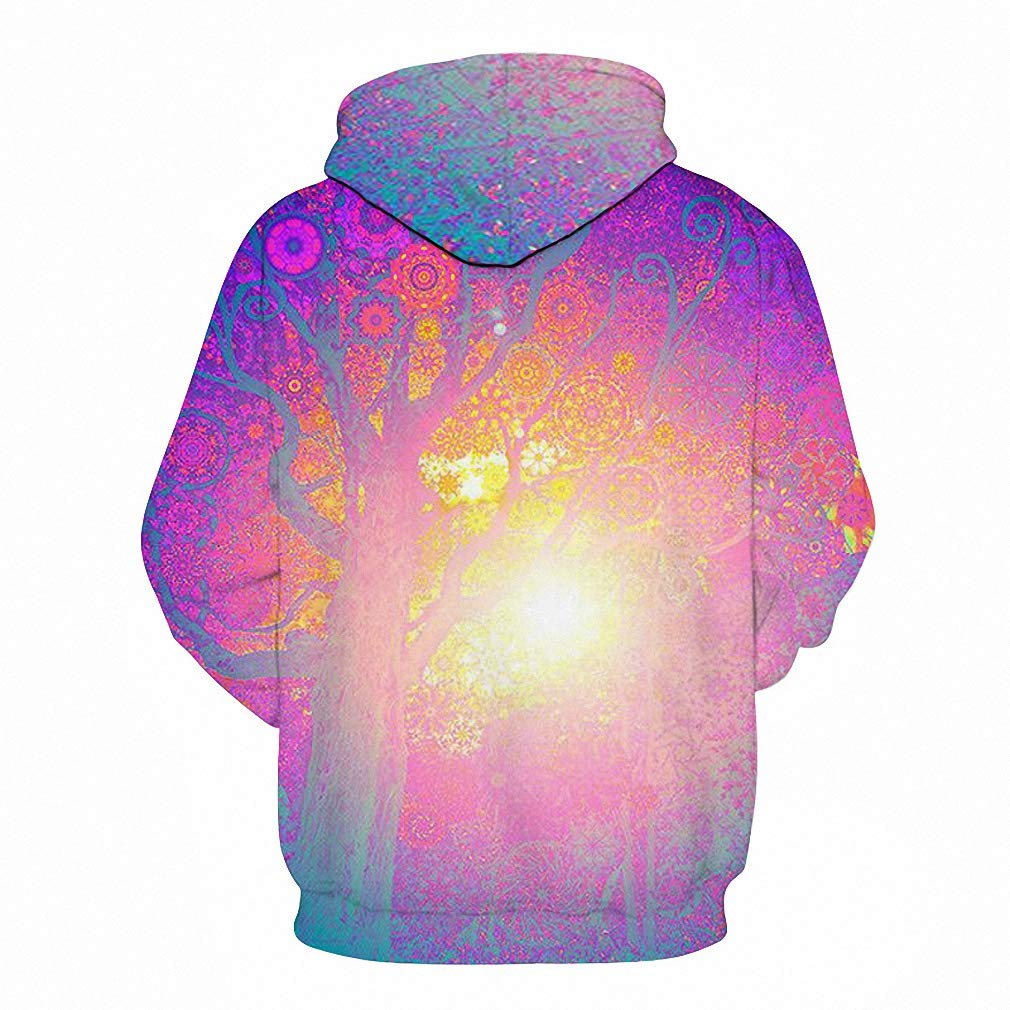 Sun Tree Printed Hoodies Men Women Sweatshirts 3D Pullover Hooded Tracksuits