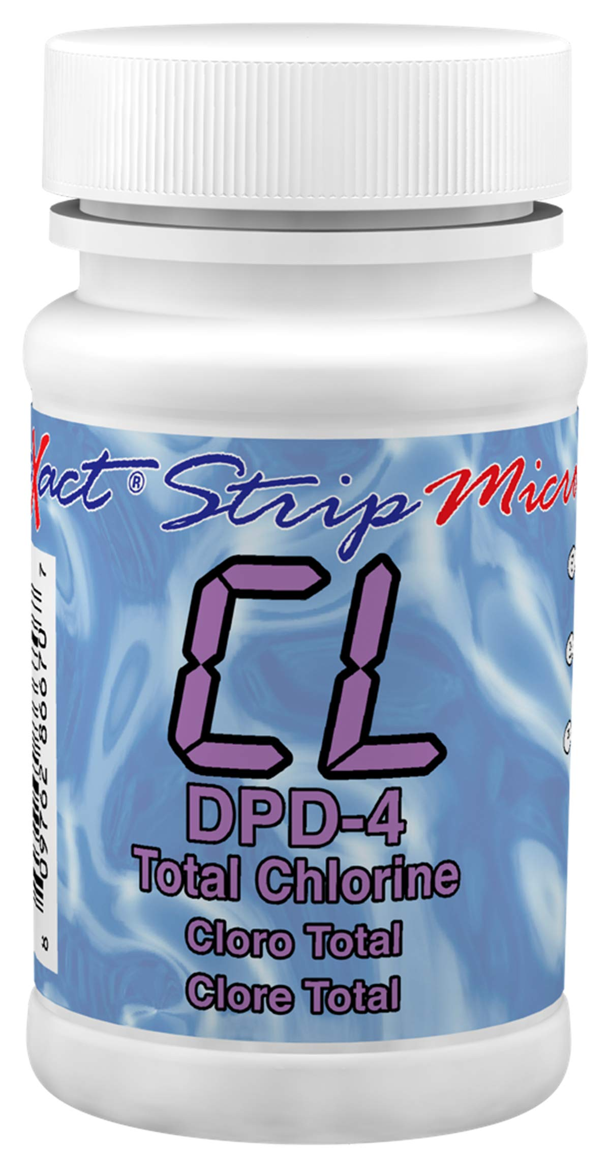 Industrial Test Systems eXact 486670 DPD-4 Micro Total Chlorine Strips, 0.01-11 ppm Detection Range (Bottle of 100) by Industrial Test Systems