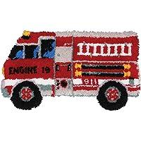MCG Textiles 37650 Firetruck Latch Hook Rug Kit
