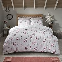 Sleepdown Kerst Gonks Santa Multi Omkeerbare Soft Easy Care Dekbedovertrek Quilt Beddenset met kussenslopen - Dubbel…