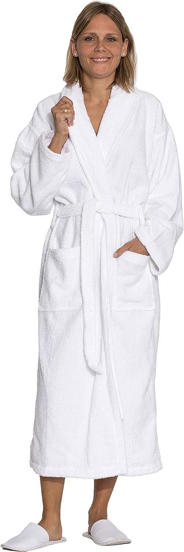 ZOLLNER Albornoz de Ducha para Hombre y Mujer, Tallas XS-6XL, 100% algodón, 020
