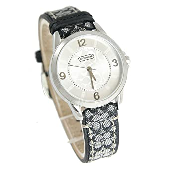 d6ee9e2b5 Image Unavailable. Image not available for. Color: Coach Womens Classic  Signature Logo Leather Strap Watch 14501631