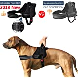 SlowTon No Pull Dog Vest Harness Adjustable Neck Chest Strap Breathable Padded Vest