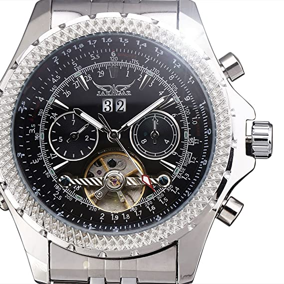 2017 Jaragar relojes hombres marca de lujo automático reloj mecánico 4 manos FECHA/día Tourbillon reloj de los hombres reloj de pulsera Relogio Masculino: ...