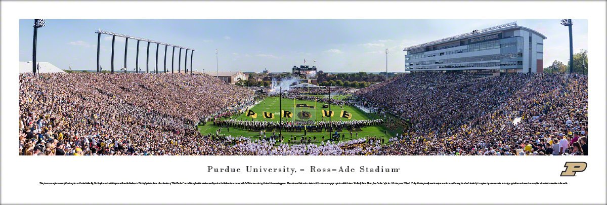Purdue Football - Unframed 40 x 13.5 Poster by Blakeway Panoramas by Blakeway Worldwide Panoramas, Inc.