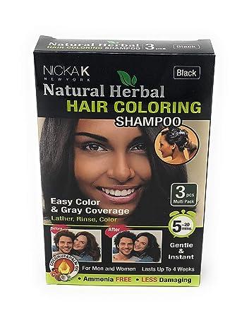 Hair Coloring Shampoo Black 3pcs